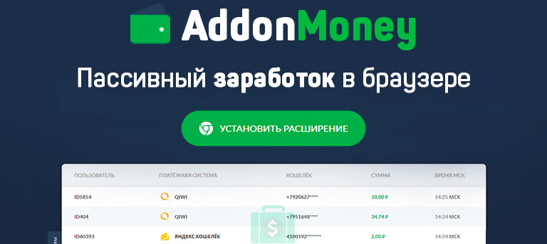 addon money - расширение браузера для автоматического заработка денег