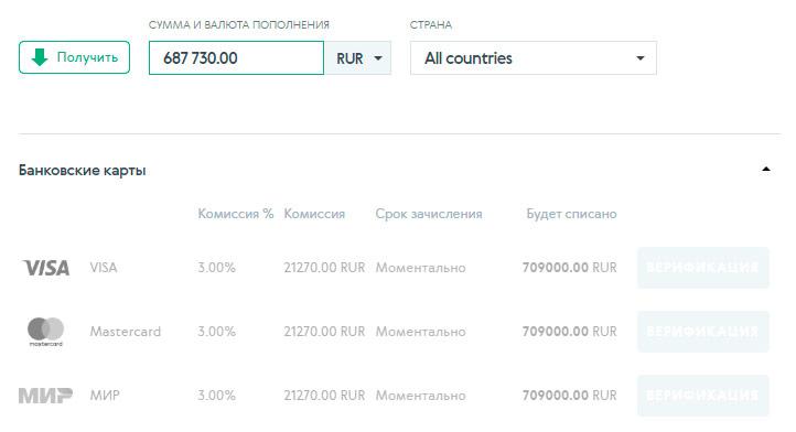 advcash сколько здесь стоит пополнение счета картой банка