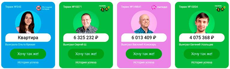 Самые крупные выигрыши в российской лотереи за последнее время