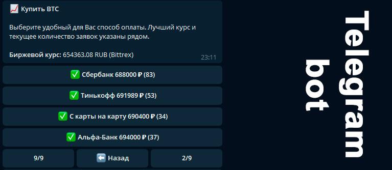телеграм-бот для покупки криптовалют